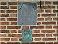 SK7126 : Date stone and firemark, Holm Farmhouse by Alan Murray-Rust
