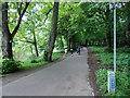 ST1778 : Riverside footpath and cycleway near Blackweir Bridge, Cardiff by Jaggery