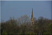 SJ7993 : A church across the field by Ian Greig
