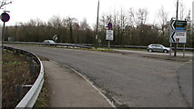 ST3091 : Clearway for 3 miles, A4042 near Newport by Jaggery