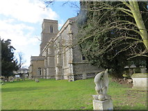 TL9568 : The Church of St George at Stowlangtoft by Peter Wood