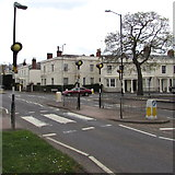 SP3265 : Zebra crossing, Willes Road, Royal Leamington Spa by Jaggery