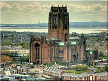SJ3589 : Anglican Cathedral Church of Christ in Liverpool, viewed from St John's Beacon by David Dixon