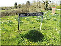 TM2786 : Low Ditch Road sign by Geographer