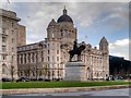 SJ3390 : Port of Liverpool Building and Edward VII Monument, Pier Head by David Dixon