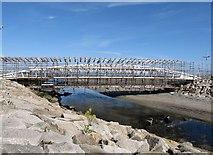 J3731 : More maintenance scaffolding on the Shimna Bridge by Eric Jones