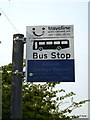 TM3865 : Dorleys Corner Bus Stop sign by Adrian Cable