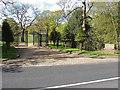 SU9255 : Furze Hill gates, Pirbright by Alan Hunt