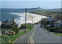 NU2424 : Road down to Low Newton-by-the-Sea by JThomas