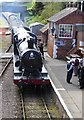 ST0841 : Loco pulls in to Williton station on the way to Minehead by Shazz