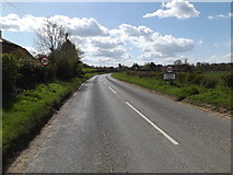 TM3669 : Entering Sibton on the A1120 Yoxford Road by Adrian Cable