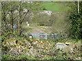 SE0723 : Sowerby Bridge FP079 (N12), Milner Royd Lane closed at the railway bridge by Humphrey Bolton