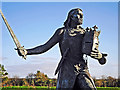 NY3259 : Statue of King Edward I, Burgh by Sands by Rose and Trev Clough