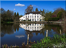 SJ7744 : Madeley Pool and former mill by Mike Searle