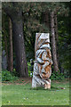 TQ2989 : Wooden Carving, The Grove, Alexandra Park, London N22 by Christine Matthews