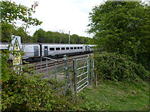 TF0611 : East Coast Main Line train near Banthorpe Lodge, Lincolnshire by Richard Humphrey