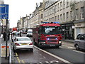 NT2573 : Lothian Fire Service vehicle in a hurry by M J Richardson