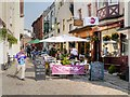SU9676 : Pavement Cafe, Church Lane, Windsor by David Dixon