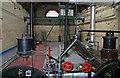 SJ4912 : Coleham Sewage Pumping Station - boiler tops by Chris Allen
