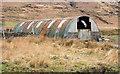 NM5430 : Corrugated metal building near to Uluvalt by Trevor Littlewood