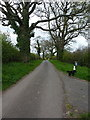SO7289 : Lane above Astbury Hall by Richard Law