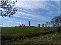 SJ5486 : Fiddlers Ferry power station by Bikeboy