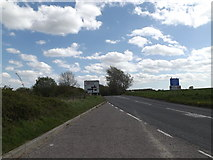 TM3763 : B1119 Rendham Road & Layby by Adrian Cable