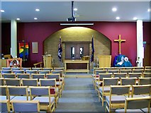 TF0920 : Inside the Methodist Chapel at Bourne, Lincolnshire by Rex Needle