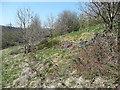SD9927 : Drystone retaining wall by Humphrey Bolton