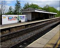 SU3521 : Romsey railway station mural by Jaggery