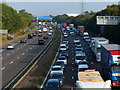 SP3782 : Rush hour traffic on the M6 motorway by Mat Fascione
