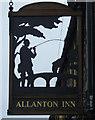 NT8654 : Sign for the Allanton Inn by JThomas