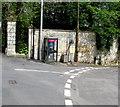 ST7860 : Grey phonebox on a corner in Freshford by Jaggery