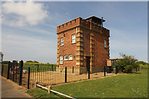 TF6742 : Old Coastguard Lookout Tower by Richard Croft