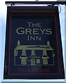 NU2322 : Sign for the Greys Inn, Embleton by JThomas