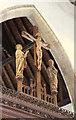 TQ9549 : St Peter & St Paul, Charing - Rood by John Salmon