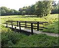 SJ8581 : Wooden footbridge near the River Bollin, Wilmslow by Jaggery