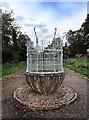 SK3437 : Urn, Darley Abbey Park by Mick Garratt