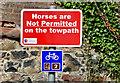 J1561 : Signs, Lagan towpath, Moira (May 2015) by Albert Bridge
