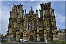 ST5545 : Wells Cathedral: The West Front by Michael Garlick