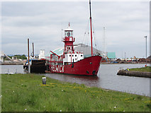 ST1974 : Departure of the Cardiff Bay lightship by Gareth James