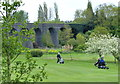 SP5275 : Disused railway viaduct at the Rugby Golf Club by Mat Fascione