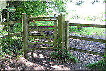 SP4802 : Footpath through the field by Philip Jeffrey