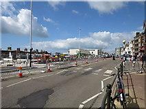TQ7407 : Pavement improvement works, De La Warr Parade by Oast House Archive