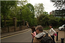 TQ2887 : View down Swain's Lane from outside Highgate Cemetery by Robert Lamb