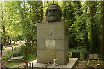 TQ2886 : View of Karl Marx's grave in Highgate Cemetery by Robert Lamb
