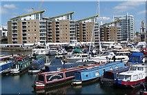 TQ3680 : Limehouse Basin Marina, London E14 by Julian Osley