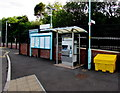 ST2688 : Information boards and ticket machine outside Rogerstone railway station by Jaggery