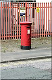 SJ7996 : Westinghouse Road/Mosley Road postbox ref M17 670 by Alan Murray-Rust