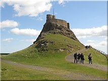 NU1341 : The approach to Lindisfarne Castle by Graham Robson